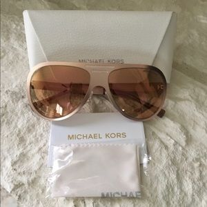 MK Aviator Clementine Rose Gold Sunglasses 🕶